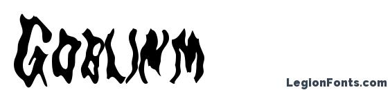 Шрифт Goblinm