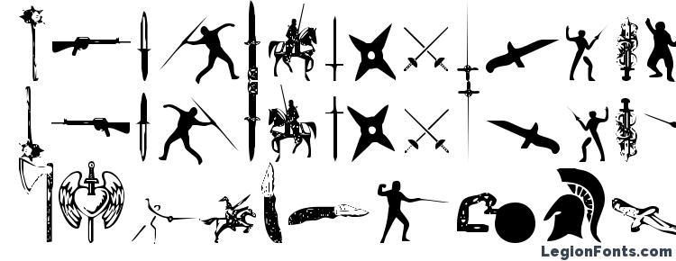 глифы шрифта Gods of War, символы шрифта Gods of War, символьная карта шрифта Gods of War, предварительный просмотр шрифта Gods of War, алфавит шрифта Gods of War, шрифт Gods of War