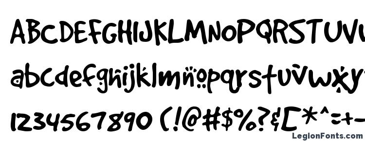 glyphs GoodDog Cool font, сharacters GoodDog Cool font, symbols GoodDog Cool font, character map GoodDog Cool font, preview GoodDog Cool font, abc GoodDog Cool font, GoodDog Cool font