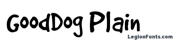 GoodDog Plain Font