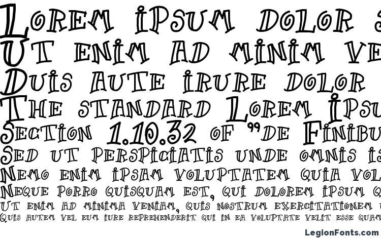specimens Goof font, sample Goof font, an example of writing Goof font, review Goof font, preview Goof font, Goof font