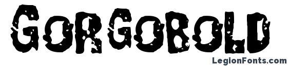 Gorgobold Font, Halloween Fonts