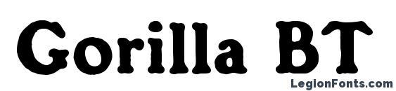 Шрифт Gorilla BT