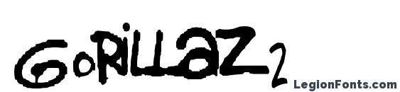 шрифт Gorillaz 2, бесплатный шрифт Gorillaz 2, предварительный просмотр шрифта Gorillaz 2