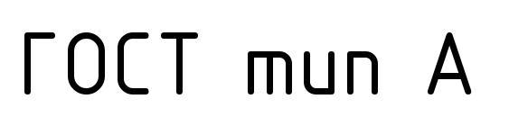 ГОСТ тип А Font