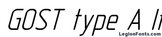 GOST type A Italic Font