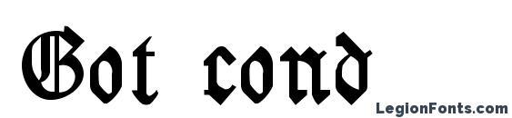 Got cond Font