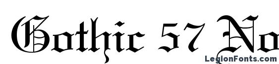 Gothic 57 Normal Font