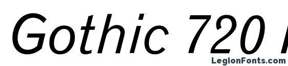 Gothic 720 Italic BT Font