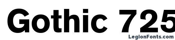 Gothic 725 Black BT Font