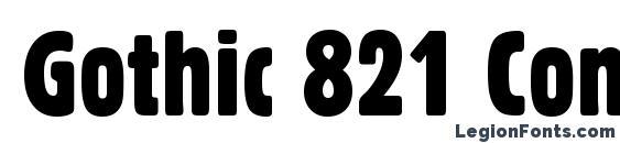 Gothic 821 Condensed BT Font
