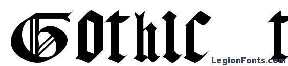 Шрифт Gothic texture quadrata