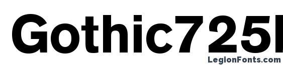 Шрифт Gothic725blackcbt