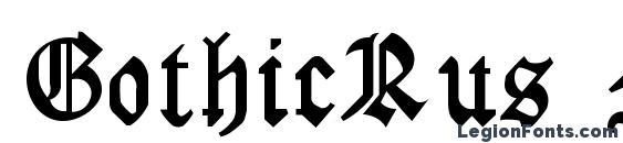GothicRus Medium Font, Medieval Fonts