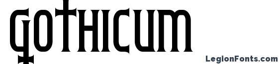Шрифт Gothicum