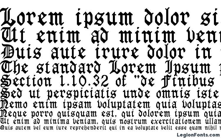 specimens Gothirus font, sample Gothirus font, an example of writing Gothirus font, review Gothirus font, preview Gothirus font, Gothirus font