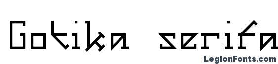 Gotika serifai a Font
