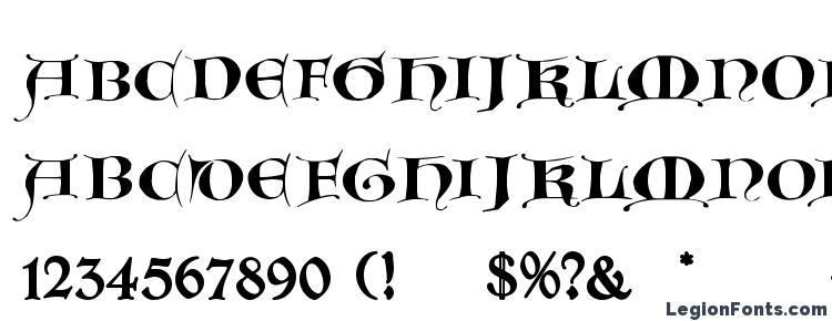 глифы шрифта GotischeMajuskel, символы шрифта GotischeMajuskel, символьная карта шрифта GotischeMajuskel, предварительный просмотр шрифта GotischeMajuskel, алфавит шрифта GotischeMajuskel, шрифт GotischeMajuskel