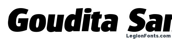 Goudita Sans Heavy SF Bold Italic Font