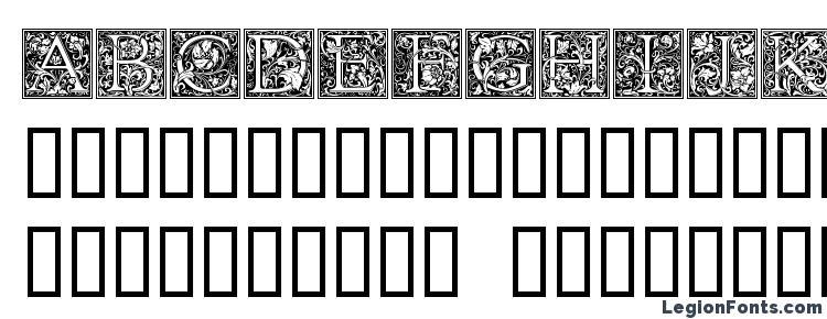 глифы шрифта Goudy Initialen, символы шрифта Goudy Initialen, символьная карта шрифта Goudy Initialen, предварительный просмотр шрифта Goudy Initialen, алфавит шрифта Goudy Initialen, шрифт Goudy Initialen