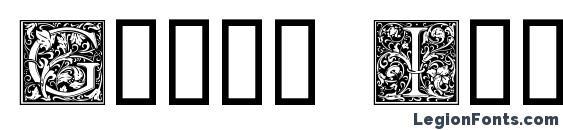 шрифт Goudy Initialen, бесплатный шрифт Goudy Initialen, предварительный просмотр шрифта Goudy Initialen