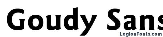 Goudy Sans Bold BT Font