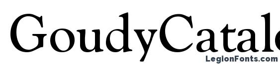 GoudyCatalogue Regular DB font, free GoudyCatalogue Regular DB font, preview GoudyCatalogue Regular DB font