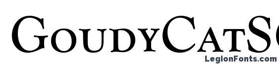 GoudyCatSCTReg font, free GoudyCatSCTReg font, preview GoudyCatSCTReg font