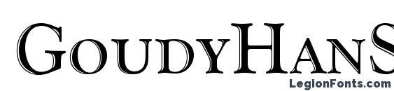 GoudyHanSCD Font, 3D Fonts
