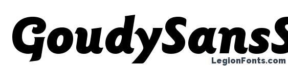 GoudySansStd BlackItalic Font