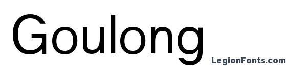 Goulong Font