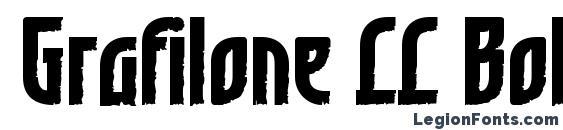 Шрифт Grafilone LL Bold