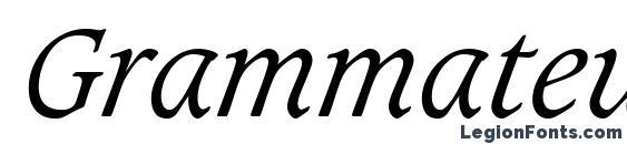 Grammateus Light SSi Light Italic Font