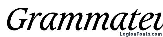 Grammateus SSi Italic Font