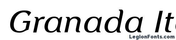 Шрифт Granada Italic