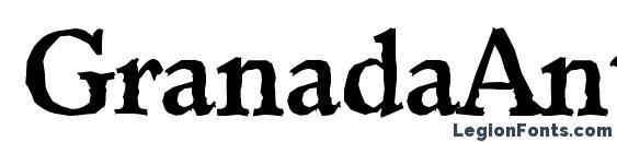 Шрифт GranadaAntique Bold