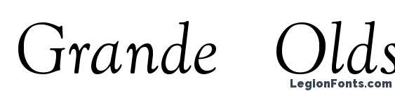 Шрифт Grande Oldstyle