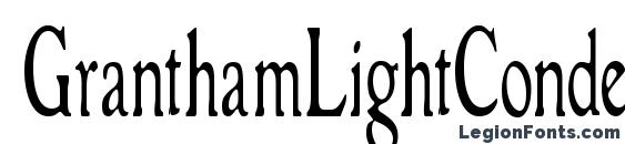 Шрифт GranthamLightCondensed
