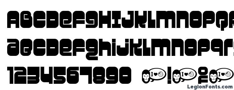 глифы шрифта Gravity, символы шрифта Gravity, символьная карта шрифта Gravity, предварительный просмотр шрифта Gravity, алфавит шрифта Gravity, шрифт Gravity