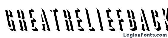 GreatReliefBackslant Regular Font