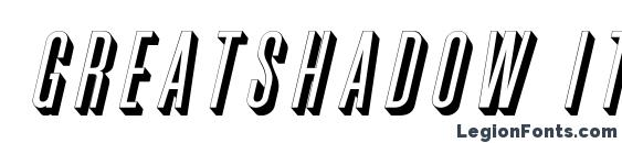 шрифт GreatShadow Italic, бесплатный шрифт GreatShadow Italic, предварительный просмотр шрифта GreatShadow Italic