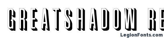 GreatShadow Regular Font, 3D Fonts