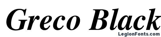 Шрифт Greco Black SSi Bold Italic
