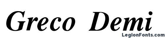 Greco Demi SSi Demi Bold Italic Font
