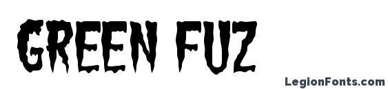 Green Fuz Font