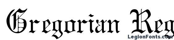 Gregorian Regular DB Font