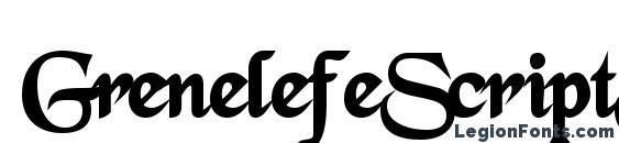 GrenelefeScriptSSK Bold Font, Serif Fonts