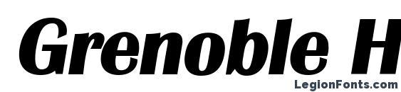 Grenoble Heavy SF Bold Italic Font