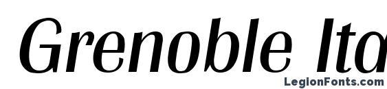 Шрифт Grenoble Italic