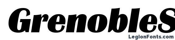 Шрифт GrenobleSerial Heavy Italic
